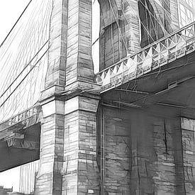 Brooklyn Bridge van Joris Pannemans - Loris Photography