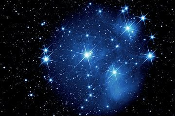 Les Pléiades - Messier 45 sur Monarch C.