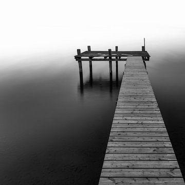 Steg schwarz weiss von Denis Feiner