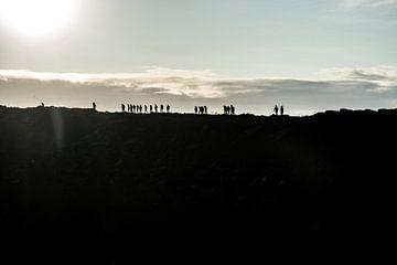 Auf dem Gipfel des Vulkans von Annelies Martinot
