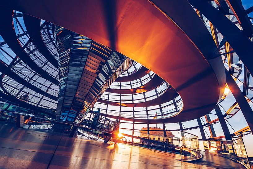 Berlin - Reichstag Dome van Alexander Voss