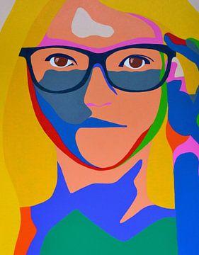 Wir sehen uns später , moderne Frau mit Brille. von Freek van der Hoeve