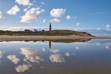 Leuchtturm Eierland auf der Insel Texel von Ad Jekel