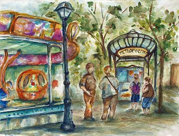 Montmartre in Paris. von Ineke de Rijk