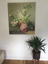 Klantfoto: Mozaïek van een stilleven (VT Wonen & Design Beurs 2019) van Marja van den Hurk, op canvas