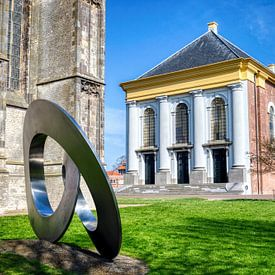 Nieuwe kerk in Zierikzee in HDR van W J Kok
