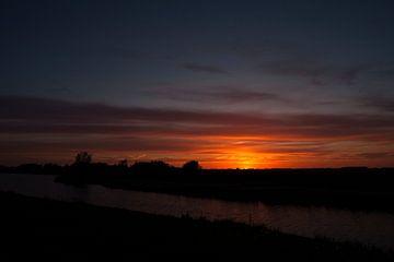 Zonsondergang in Nesselande van Eus Driessen
