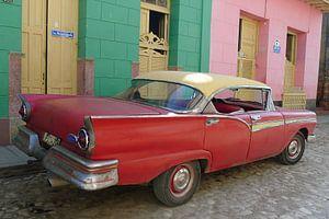 Red oldtimer van