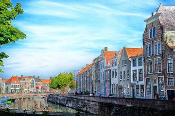 Grachtenpanden Middelburg van Jessica Berendsen
