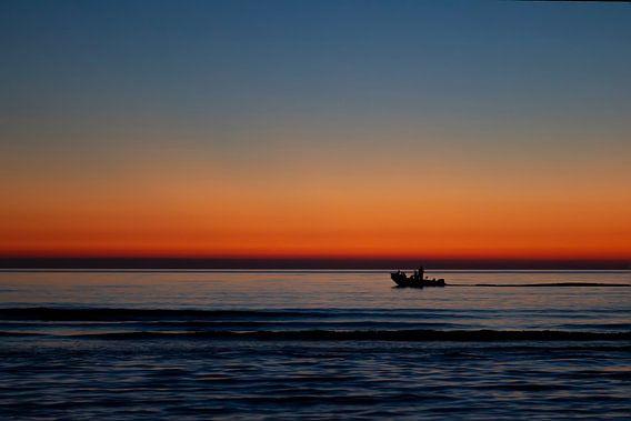 Zonsondergang aan zee van Eus Driessen