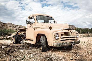 Oude Amerikaanse auto van Els Broers