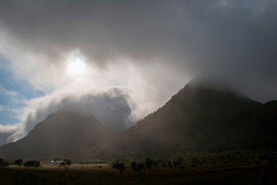 Donkere luchten op de Lofoten