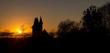 Zonsondergang park Ter Rijst  van Ronald De Neve