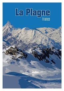 Vintage-Poster, La Plagne Frankreich