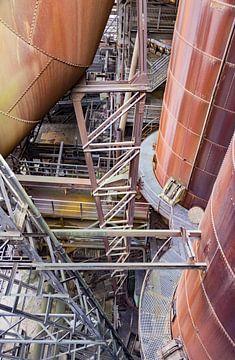 Roestige industriële installatie van Achim Prill