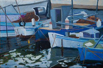 Hafen von Limenas Thassos Griechenland von Antonie van Gelder Beeldend kunstenaar