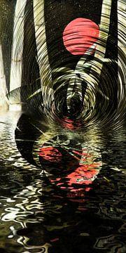 Roter Mond im Bambus von Christine Nöhmeier