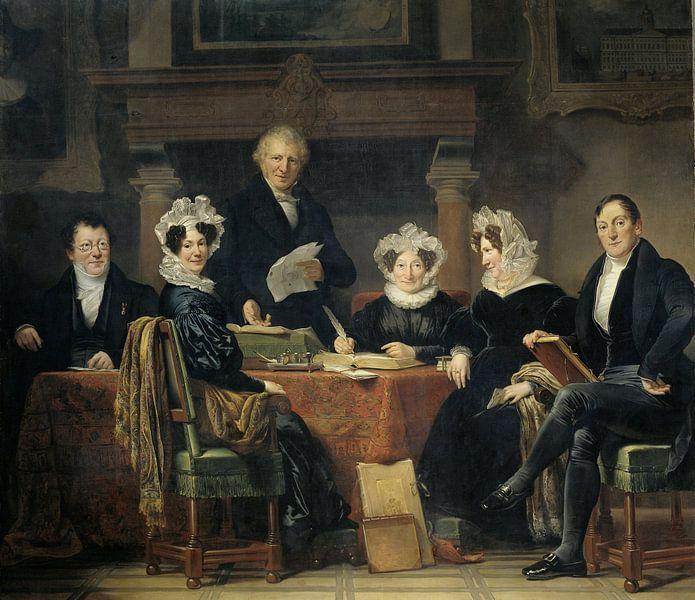 Regenten en regentessen van het leprozenhuis te Amsterdam, 1834-35, Jan Adam Kruseman van Meesterlijcke Meesters