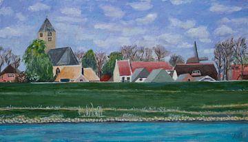 Salz aus dem Fluss IJssel von Antonie van Gelder Beeldend kunstenaar