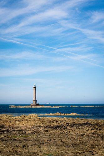 De eenzame vuurtoren van Cap de la Hague van