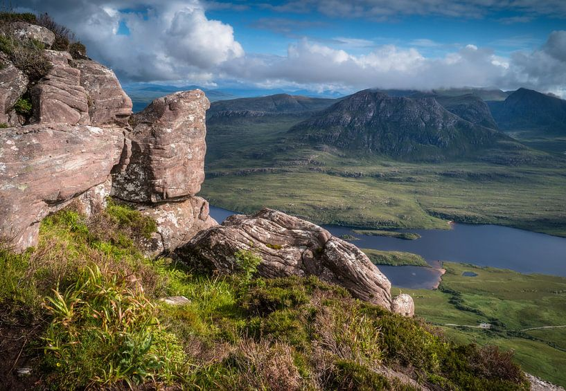 Uitzicht over Loch Lurgainn van Joshua van Nierop