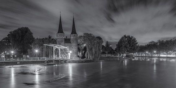 Oostpoort Delft, schwarzweiß