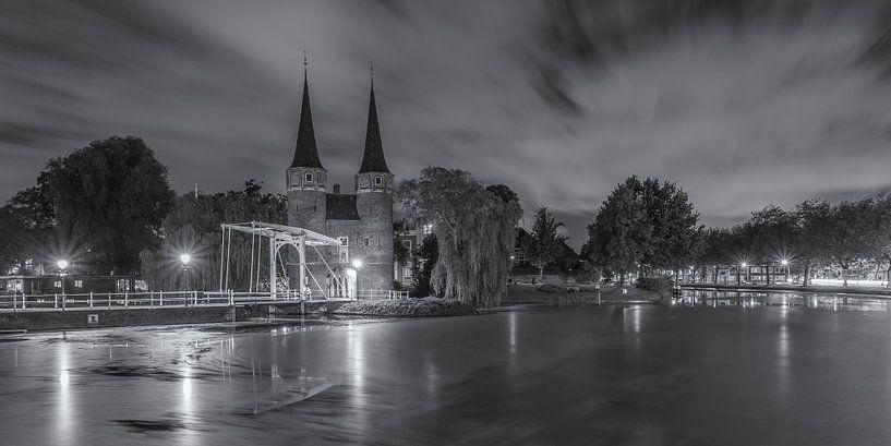 Oostpoort Delft, schwarzweiß von Tux Photography