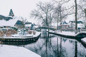 L'hiver au village de Giethoorn avec les célèbres canaux