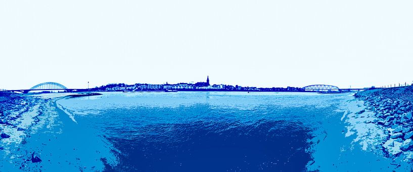 Nijmegen in blauw van Maerten Prins
