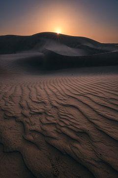 Wahiba Sands Wüste im Oman zum Sonnenaufgang