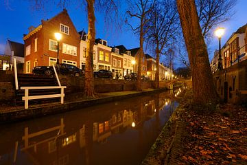 Nieuwegracht in Utrecht tussen de Quintijnsbrug en de Magdalenabrug van Donker Utrecht