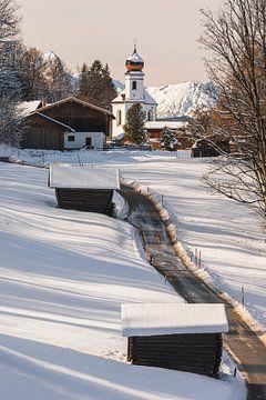 Winter in Wamberg, Beieren, zuid Duitsland van Henk Meijer Photography