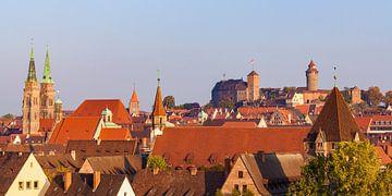 Panorama Nürnberg mit der Kaiserburg von Werner Dieterich