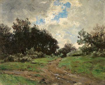 Carlos de Haes--Die Straße zum Ackerland, die alte Landschaft
