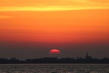 Sunset, Zonsondergang  Natuur sur Anja Kok
