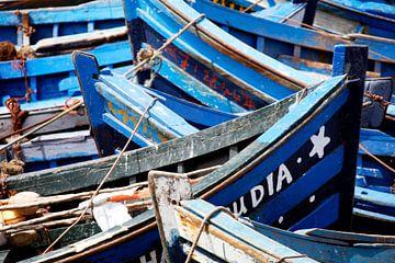 Blue boats van Jody Gouda