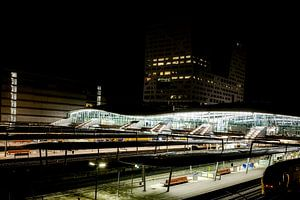 Utrecht CS bij nacht