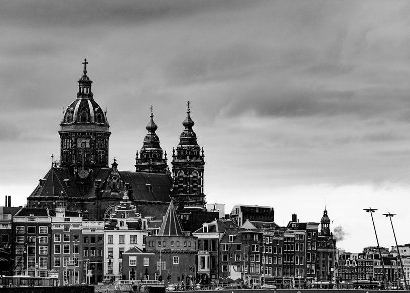 Amsterdam in zwart wit van Ton de Koning