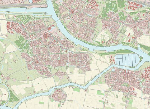 Kaart vanSpijkenisse