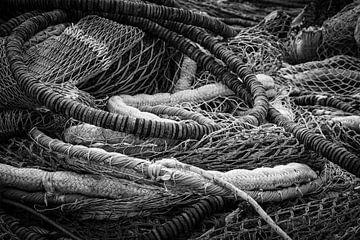 Een berg visnetten of kunst? van BSO Fotografie