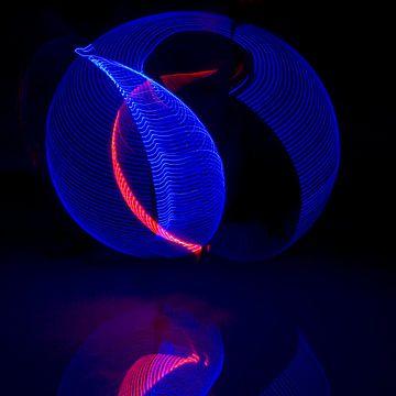 Lightpainting van Nicole Wetzels