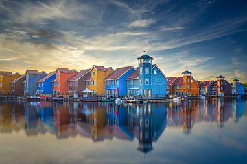Zweedse huizen in Groningen van Dennis Donders