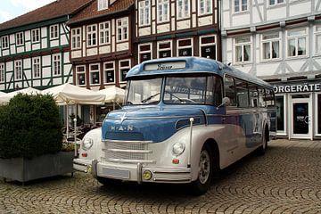 Chique oude bus van MAN van