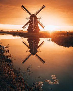 Krimstermolen Zuidwolde, Groningen, Nederland van Marion Stoffels