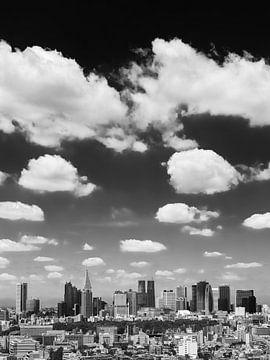 TOKYO 08 - De skyline van Shinjuku in zwart-wit van Tom Uhlenberg