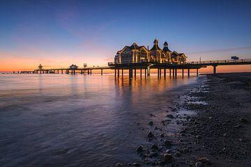 Seebrücke Sellin  bei Sonnenaufgang von Robin Oelschlegel