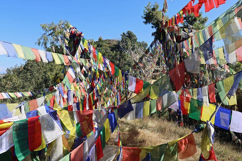 gebedsvlaggetjes Nepal van Marieke Funke