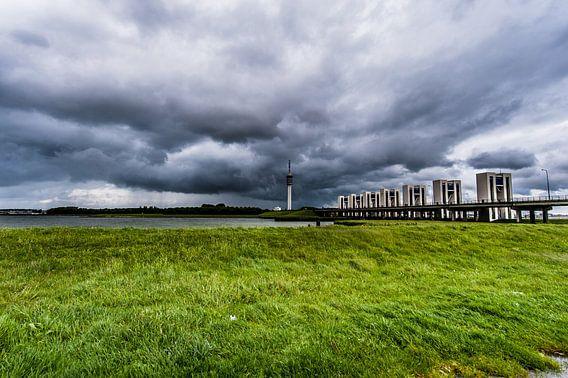 Lelystad in a Thunderstorm van Brian Morgan