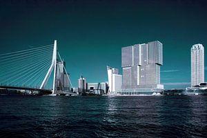 Rotterdam skyline in groen