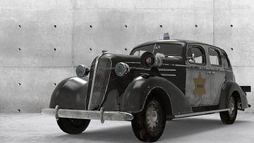 Les flics de Parkside devant la voiture sur H.m. Soetens